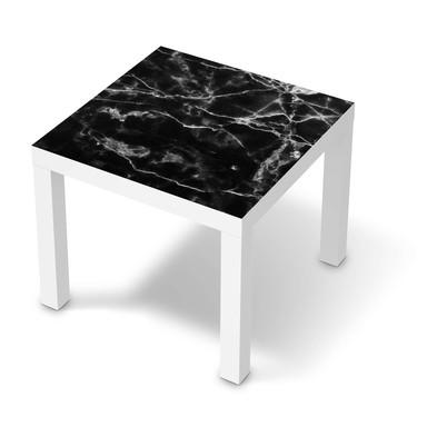 Möbelfolie IKEA Lack Tisch 55x55cm - Marmor schwarz