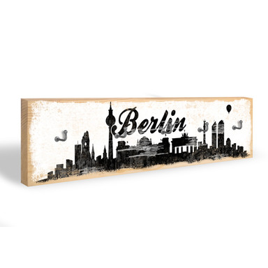 Schlüsselbrett Berlin Skyline 02 + 5 Haken