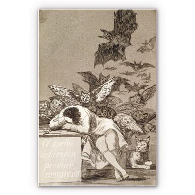 Wandbild de Goya - Der Schlaf der Vernunft gebiert Ungeheuer
