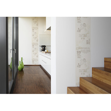 Dekopanele Livingwalls Dekopanel pop.up Panel Beige, Braun, Weiss
