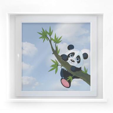 Fensterdekor Kletternder Panda