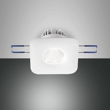 LED Spot Set Sigma in transparent und weiss 7W 800lm quadratisch