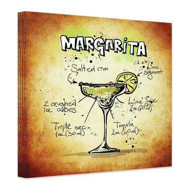 Leinwandbild Margarita - Rezept