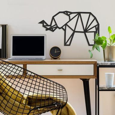 MDF - Holzdeko Origami Elefant