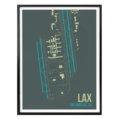 Poster 08Left - LAX Grundriss Los Angeles