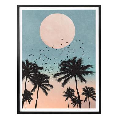 Poster Kubistika - Sonnenuntergang