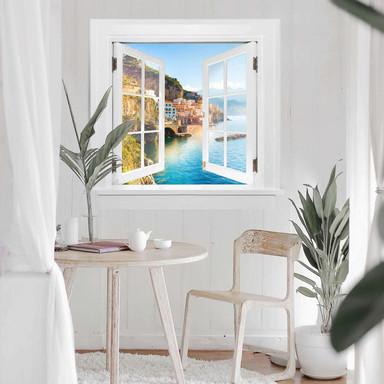 3D Wandtattoo Fenster quadratisch - Campania in Italien