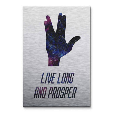 Alu-Dibond-Silbereffekt Live long and prosper