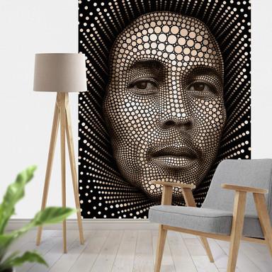 Fototapete Ben Heine - Circlism: Bob Marley