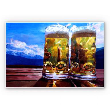 Hartschaumbild Bleichner - Zwei Bier in den Bergen