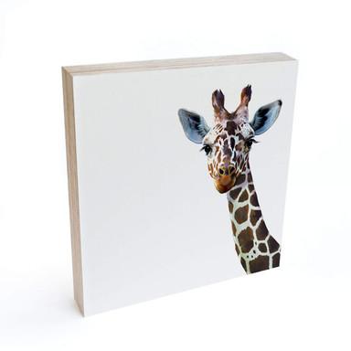 Holzbild zum Hinstellen - Graves - Giraffe - 15x15cm