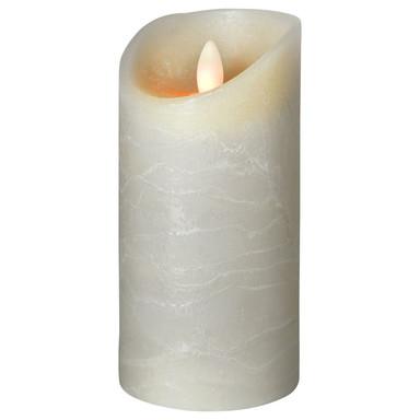 LED Kerze Shine Wachs gefrostet in Grau 150x75x75mm