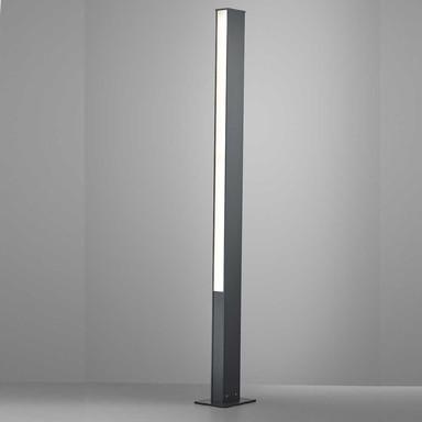 LED Wegeleuchte Tendo in Graphit und Transparent-satiniert 48W 7540lm IP55