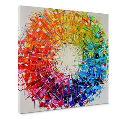 Leinwandbild Fedrau - Farbkreis - Quadratisch