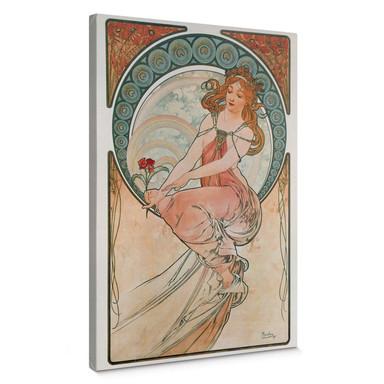 Leinwandbild Mucha - Vier Künste: Die Malerei