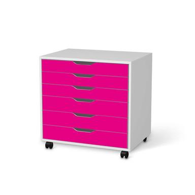 Möbelfolie IKEA Alex Rollcontainer 6 Schubladen - Pink Dark