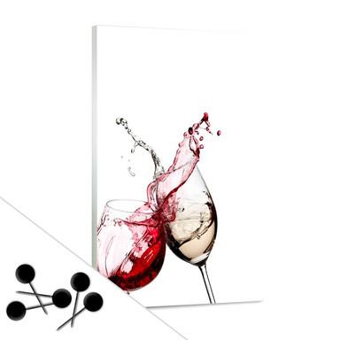 Pinwand Weingläser inkl. 5 Pinnadeln