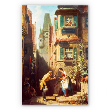 Wandbild Spitzweg - Der ewige Hochzeiter