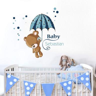 Wandsticker Baby Blau