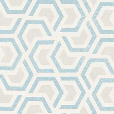 A.S. Création Vliestapete Linen Style Tapete geometrisch grafisch beige, blau, grau