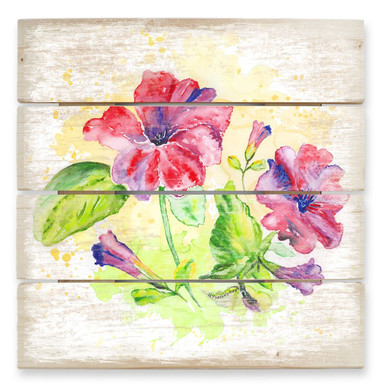 Holzbild Toetzke - Leuchtender Blütenkelch