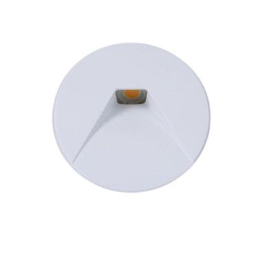 LED Einbaustrahler mit Cover rund Wall in Weiss 3W 140lm IP44 e