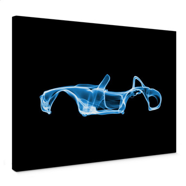 Leinwandbild Mielu - Blue car