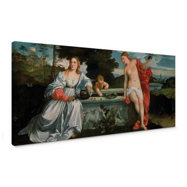 Leinwandbild Tizian - Himmliche und irdische Liebe