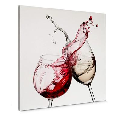 Leinwandbild Weingläser - quadratisch