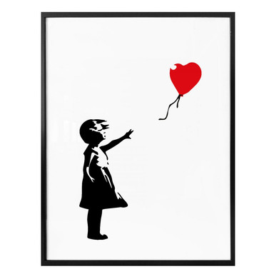 Poster Banksy - Girl with the red balloon
