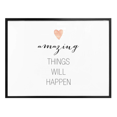 Poster Confetti & Cream - Amazing things will happen