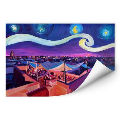 Wallprint Bleichner - Marrakesch bei Nacht