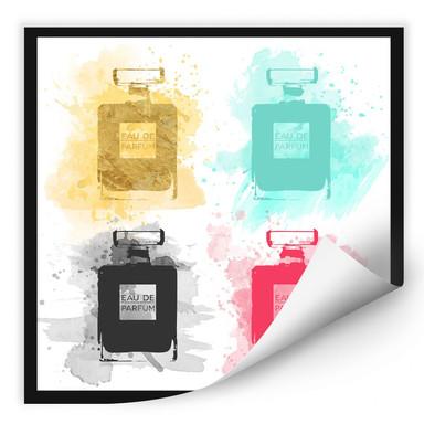 Wallprint Eau de Parfum Aquarell - bunt