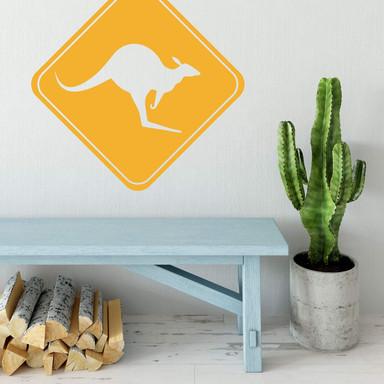 Wandtattoo Achtung Känguru