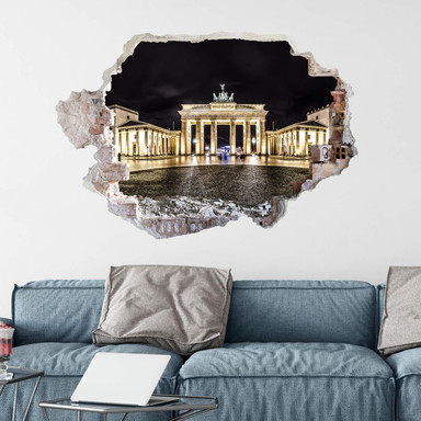 3D Wandtattoo Brandenburger Tor