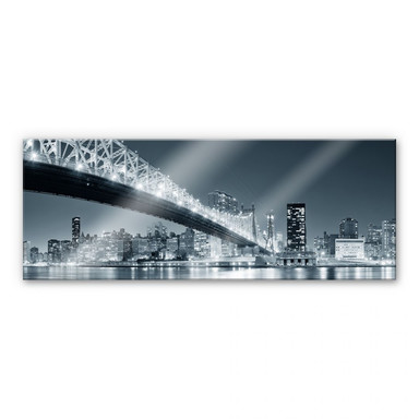 Acrylglasbild New York at Night 3 - Panorama
