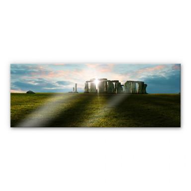 Acrylglasbild Stonehenge im Sonnenuntergang - Panorama
