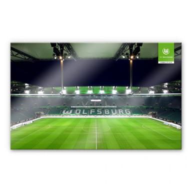 Acrylglasbild VfL Wolfsburg Volkswagen Arena Tribüne