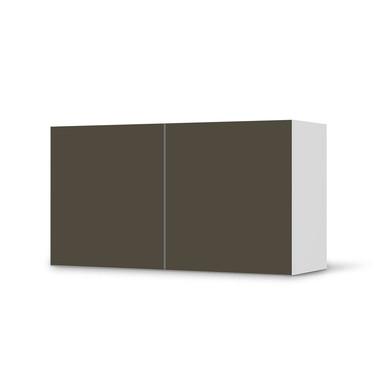 Folie IKEA Besta Regal 2 Türen (quer) - Braungrau Dark