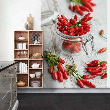 Fototapete Hot Chili - 192x260cm - Bild 1