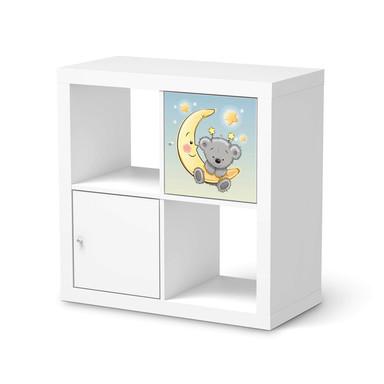 Klebefolie IKEA Expedit Regal Tür einzeln - Teddy und Mond- Bild 1