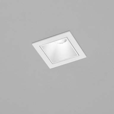 LED Deckeneinbaustrahler Pic in Weiss 8W 460lm eckig 2700K