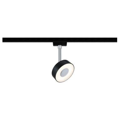 LED URail Spot Circle in Schwarz-matt und Chrom 5W 210lm