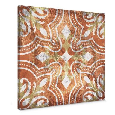 Leinwandbild Spanish Terracotta - Quadratisch