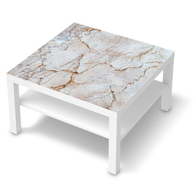 Möbelfolie IKEA Lack Tisch 78x78cm - Marmor rosa