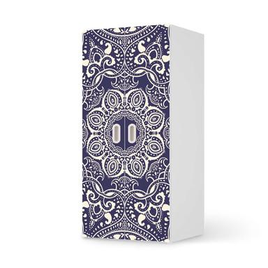 Möbelfolie IKEA Stuva / Fritids Schrank - 2 grosse Türen - Blue Mandala