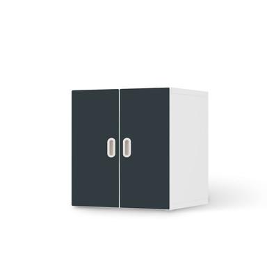 Möbelfolie IKEA Stuva / Fritids Schrank - 2 kleine Türen - Blaugrau Dark