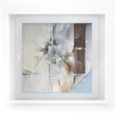 Sichtschutzfolie Schmucker - Weisse Komposition