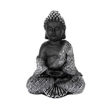 Sitzender Buddha - Statue als meditativer Ruhepunkt, Steinfigur für Innen- und Aussenbereich - Bild 1
