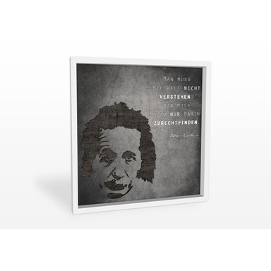 Wandbild Albert Einstein